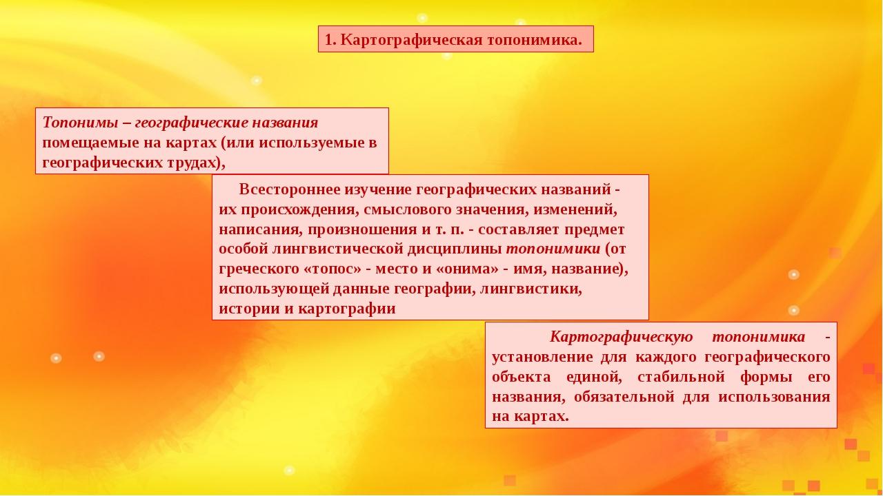топонимика географических названий презентация