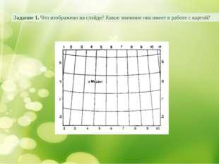 Задание 1. Что изображено на слайде? Какое значение она имеет в работе с карт