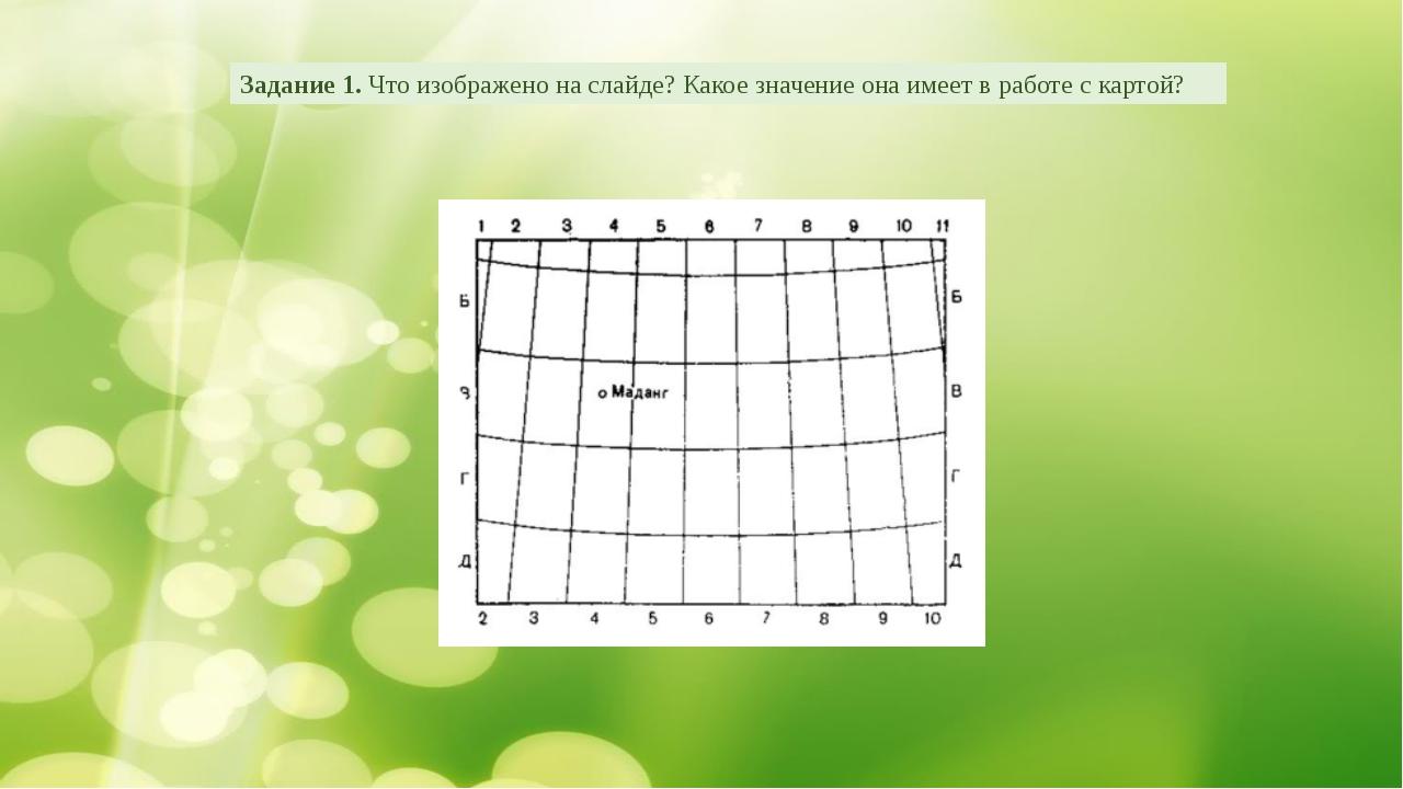 Задание 1. Что изображено на слайде? Какое значение она имеет в работе с карт...