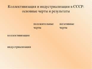 Коллективизация и индустриализация в СССР: основные черты и результаты положи