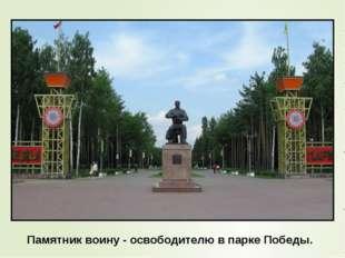 Памятник воину - освободителю в парке Победы.