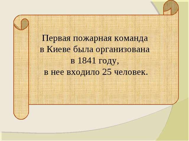 Первая пожарная команда в Киеве была организована в 1841 году, в нее входило...