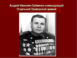 Андрей Иванович Ерёменко-командующий Отдельной Приморской армией