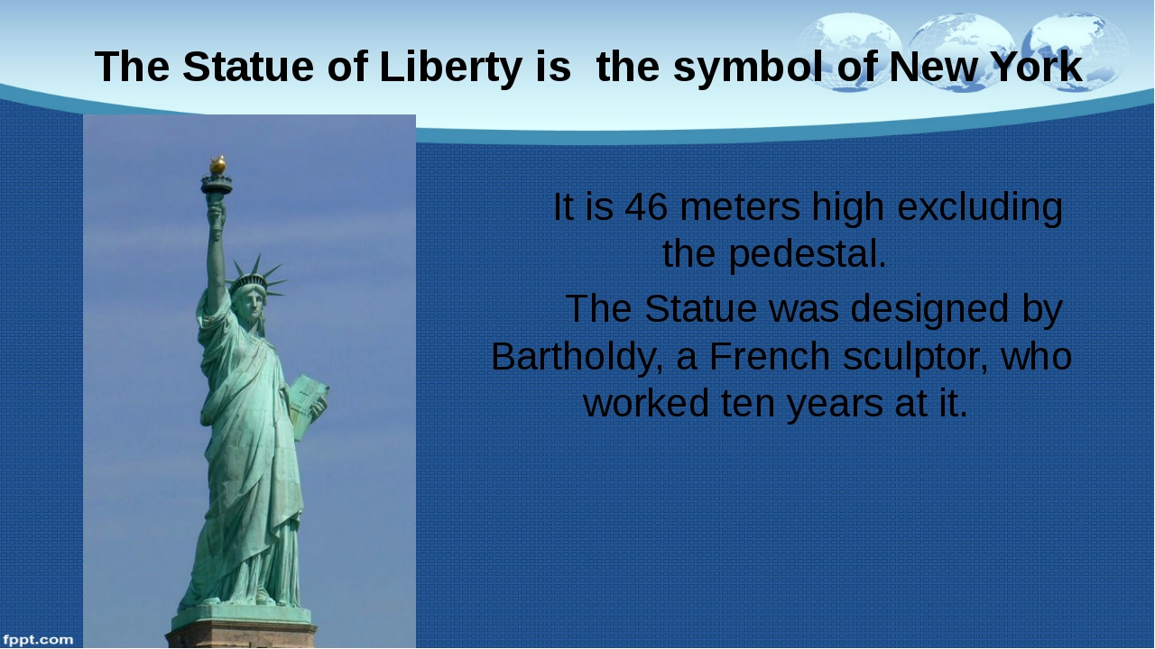 It is 46 meters high excluding the pedestal. The Statue was designed by Bart...