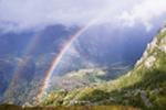 вид радуги с гор