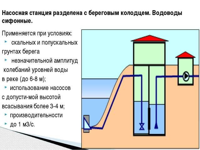 Применяется при условиях: скальных и полускальных грунтах берега незначительн...
