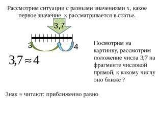 Рассмотрим ситуации с разными значениями х, какое первое значение х рассматр