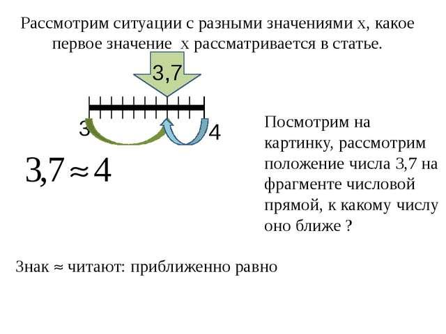 Рассмотрим ситуации с разными значениями х, какое первое значение х рассматр...