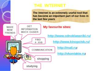 THE INTERNET The Internet is an extremely useful tool that has become an impo