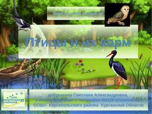 Птицы и их корм добрынина Светлана Александровна, учитель биологии и географи