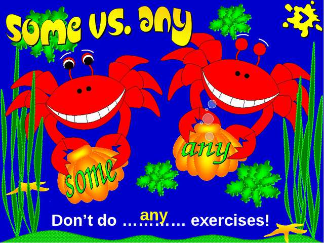 Don't do ………… exercises! any