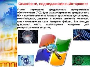 Опасности, поджидающие в Интернете: Угроза заражения вредоносным программным