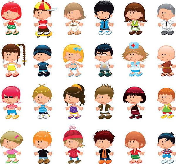 мальчики и девочки - Стоковое векторное изображение ddraw #10639382