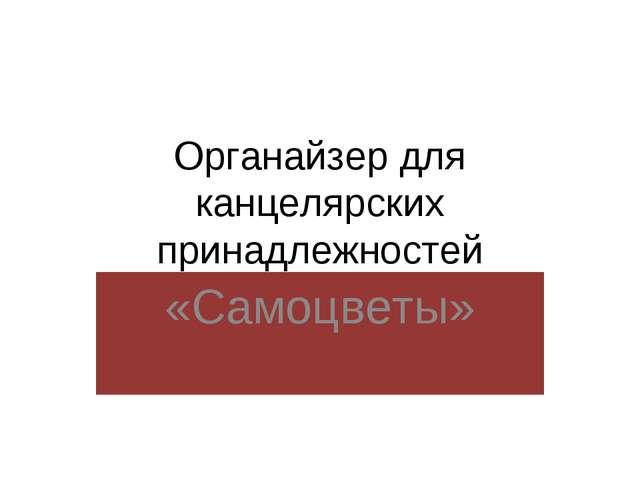 Органайзер для канцелярских принадлежностей «Самоцветы»