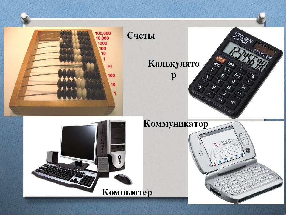 Счеты Калькулятор Компьютер Коммуникатор