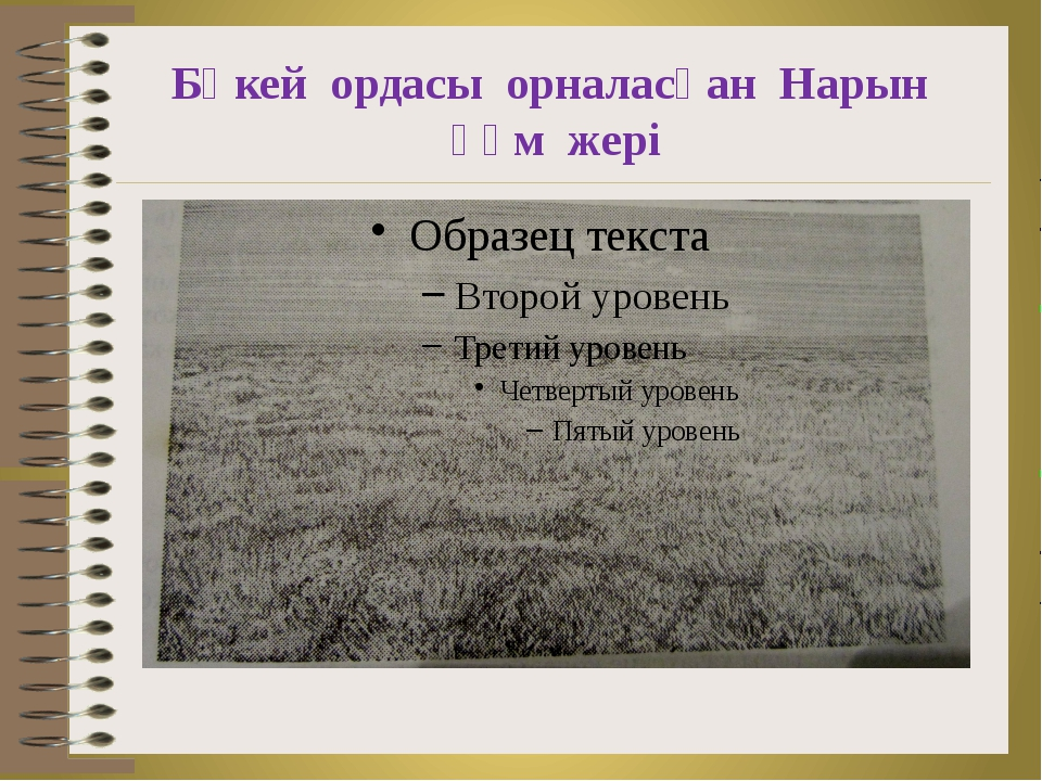 Бөкей ордасы орналасқан Нарын құм жері