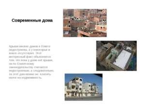 Современные дома Крыши многих домов в Египте недостроены, а у некоторых и вов