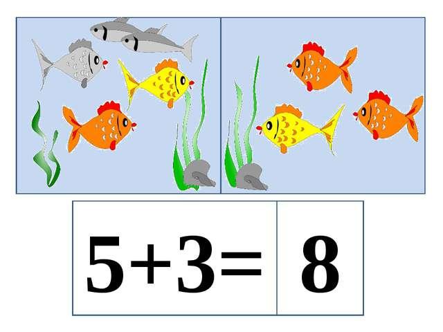5+3= 8