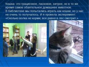 Кошка- это грациозное, ласковое, хитрое, но в то же время самое обаятельное д