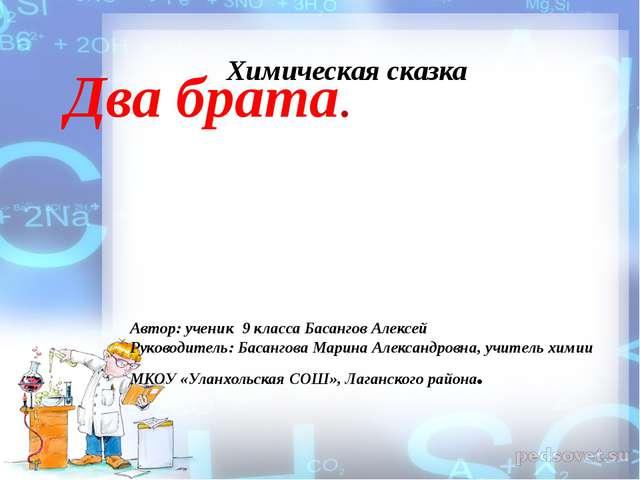 Два брата. Автор: ученик 9 класса Басангов Алексей Руководитель: Басангова Ма...