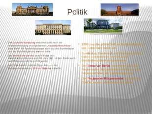 Politik Der Deutsche Bundestag entschied 1991 nach der Wiedervereinigung im s