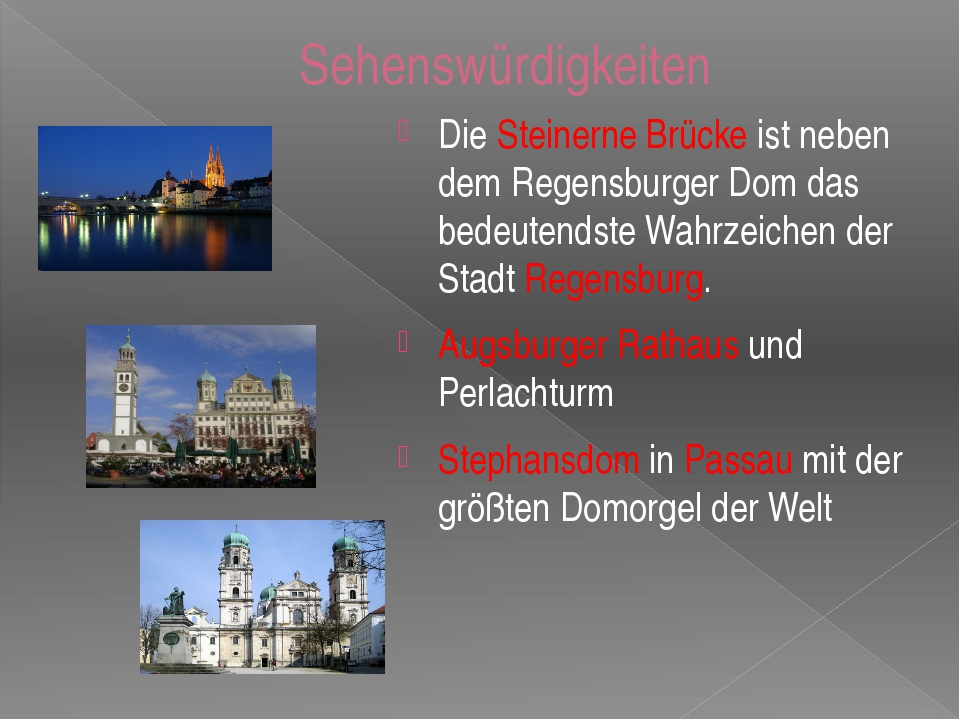 Sehenswürdigkeiten Die Steinerne Brücke ist neben dem Regensburger Dom das be...