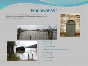 Hochwasser Immer wieder wurden die an der Weser liegenden Städte und Gemeinde