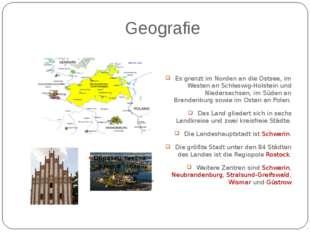Geografie Es grenzt im Norden an die Ostsee, im Westen an Schleswig-Holstein