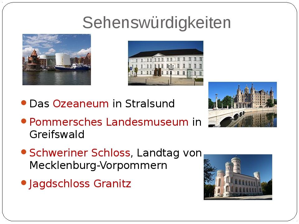 Sehenswürdigkeiten Das Ozeaneum in Stralsund Pommersches Landesmuseum in Grei...