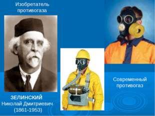ЗЕЛИНСКИЙ Николай Дмитриевич (1861-1953) Современный противогаз Изобретатель