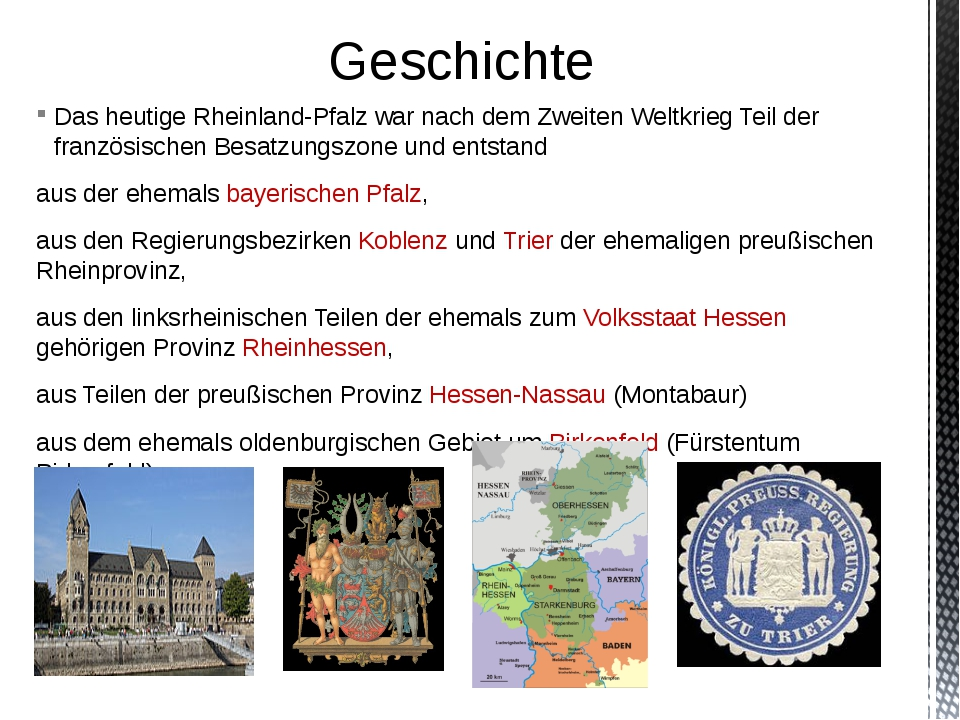 Das heutige Rheinland-Pfalz war nach dem Zweiten Weltkrieg Teil der französis...