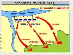 Первыми в поход на Русь начали шведские феодалы. В июле 1240 года они высадил