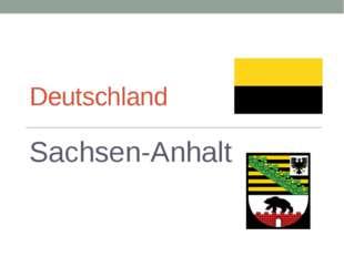 Deutschland Sachsen-Anhalt