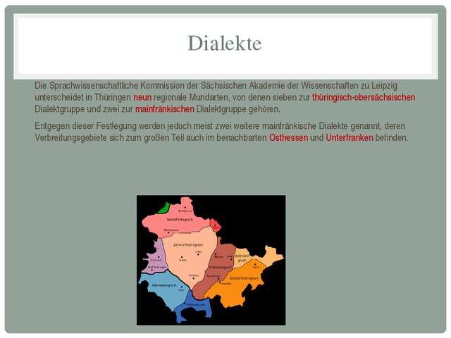 Dialekte Die Sprachwissenschaftliche Kommission der Sächsischen Akademie der...