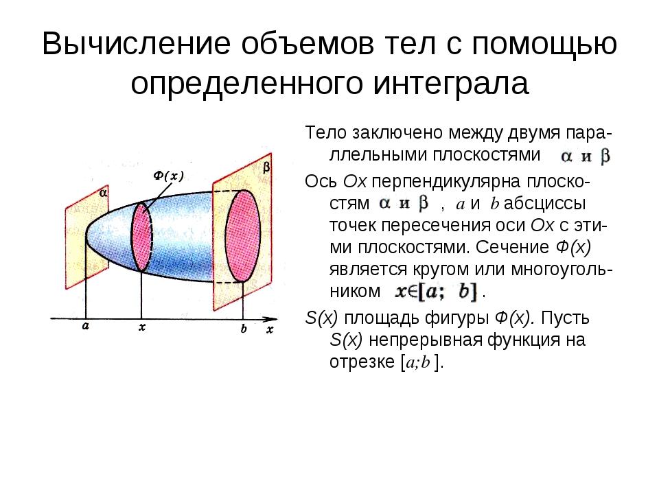 Объемы тел презентация