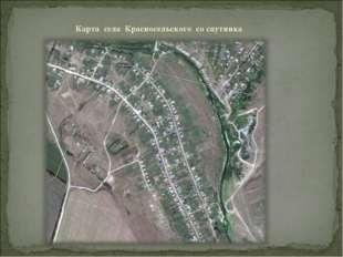 Карта села Красносельского со спутника
