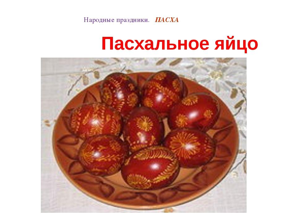 Народные праздники. ПАСХА Пасхальное яйцо