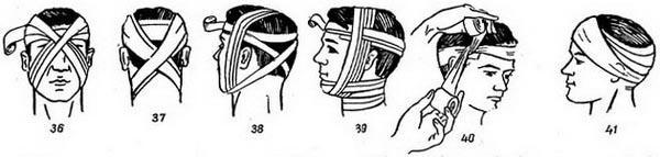 повязки на голове и шее