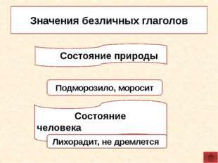 1. Определите, к какой группе относятся глаголы: 1) Обозначают состояние прир