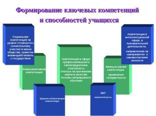 Формирование ключевых компетенций и способностей учащихся Компетенция в сфере