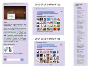2013-2014 учебный год 2014-2015 учебный год