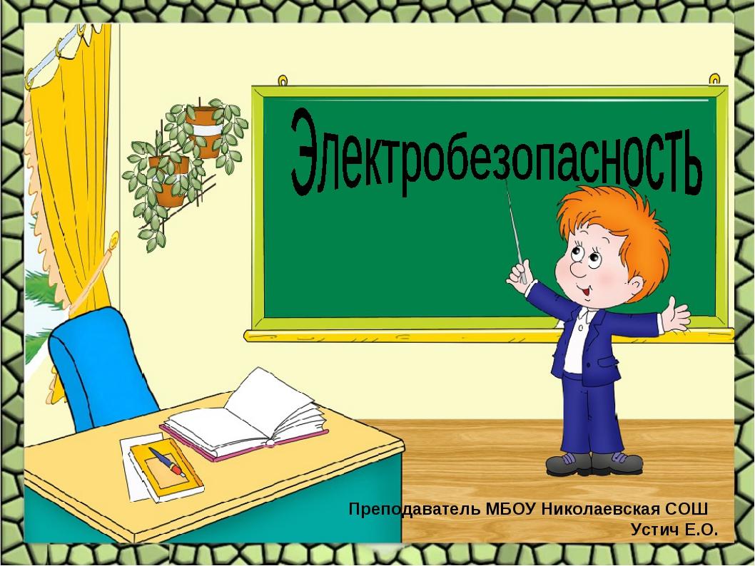 Преподаватель МБОУ Николаевская СОШ Устич Е.О.