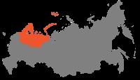 Map of Russia - Northern economic region.svg