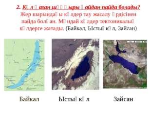 2. Көл қазан шұңқыры қайдан пайда болады? Жер шарындағы көлдер тау жасалу үрд