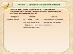 «Русский язык» 4 класс. В.П.Канакина, В.Г. Горецкий Тема «Склонение имен суще