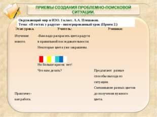 Окружающий мир и ИЗО. 1 класс. А.А. Плешаков. Тема: «В гостях у радуги» - инт
