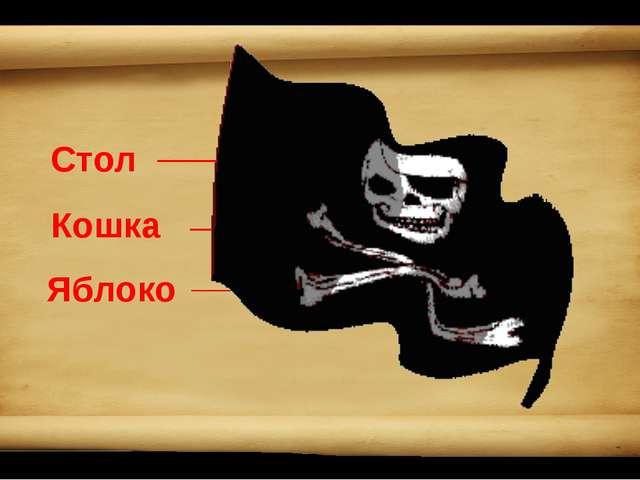 Стол Кошка Яблоко Стул Собака Груша