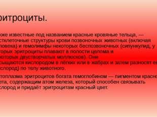 Эритроциты. Также известные под названиемкрасные кровяные тельца,— постклет