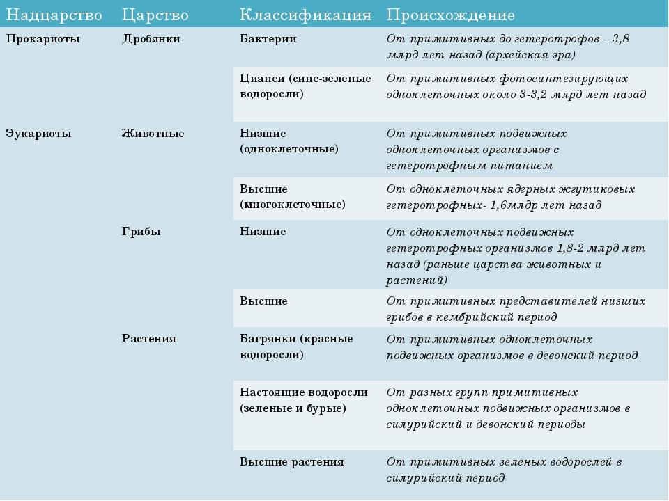 Надцарство Царство Классификация Происхождение Прокариоты Дробянки Бакте...