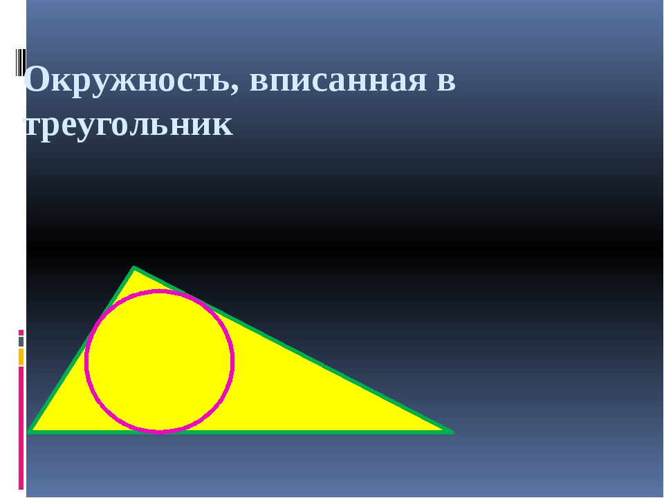 Окружность, вписанная в треугольник